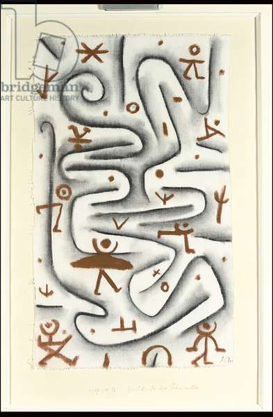 Area of High Spirits; Gelande des Ubermutes, 1937 (charcoal and sanguine on cotton)