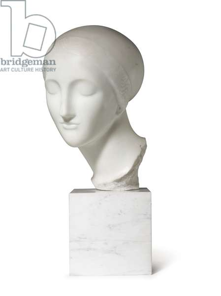 Early ideal head (La Mysterieuse), c.1916-17 (marble)