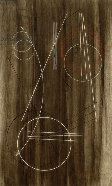 Line Construction, 1920 (pen and ink over brush and wash on paper)