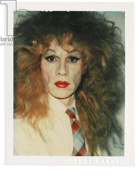 Self-Portrait in Drag, 1981-82 (polaroid print)