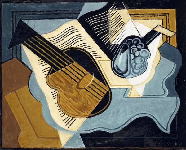 Guitar and Fruit-bowl, 1921 (oil on canvas)