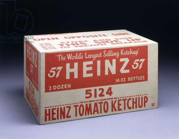 Heinz Box (Tomato Ketchup), 1964 (silkscreen inks on wood)