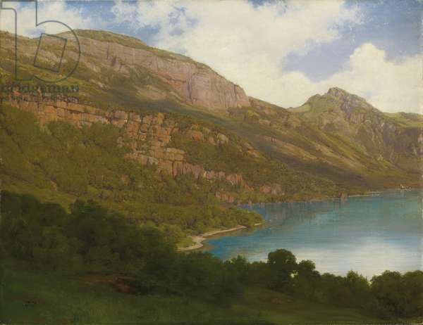View from the Rigi overlooking Lake Lucerne, 1857 (oil on canvas)