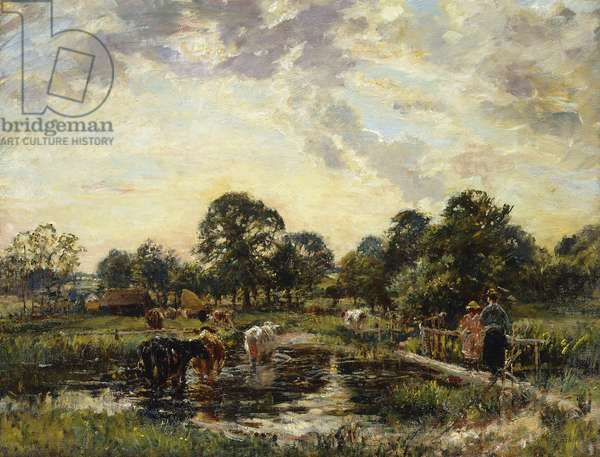 Crossing the Ford, (oil on canvas)