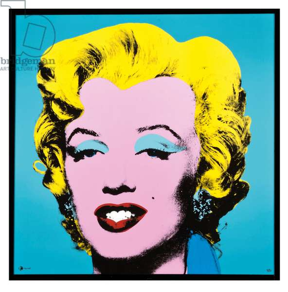Marilyn: Pink and Turquoise (Rosenthal transfer-printed plaque in colours)