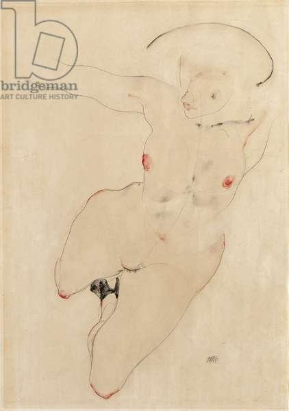 Female nude, 1912 (w/c & pencil on paper)
