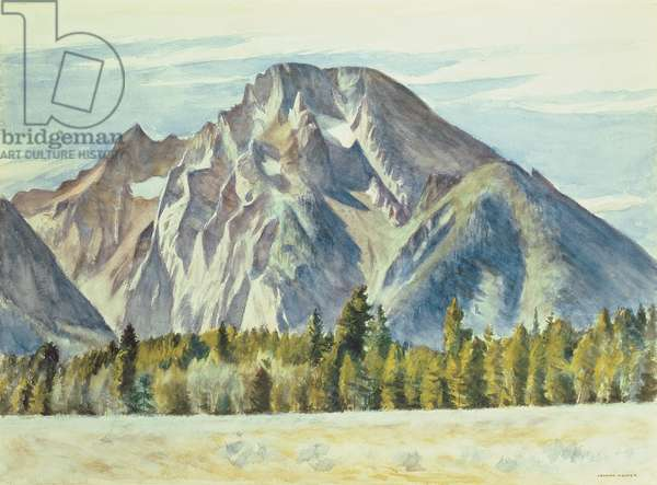 Mount Moran, 1946 (w/c on paper)