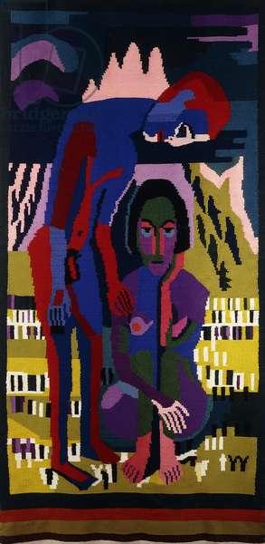 Black Spring; Schwarzer Fruhling, c.1925 (wool tapestry)