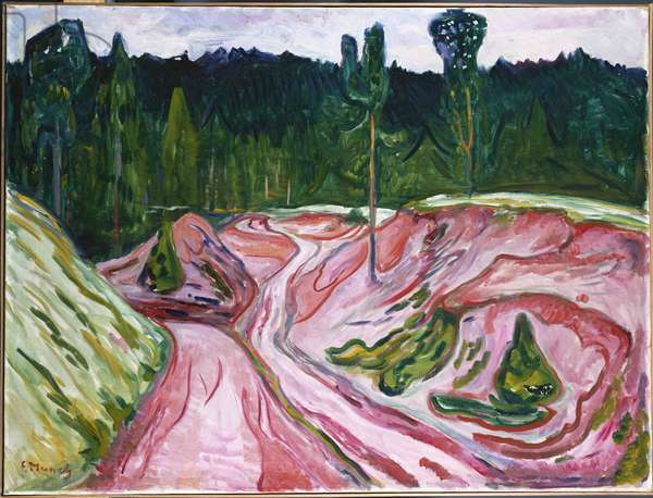 The Thuringian Forest, c.1904 (oil on canvas)