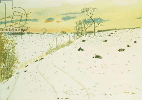 Snow; La Neige, (oil on canvas)