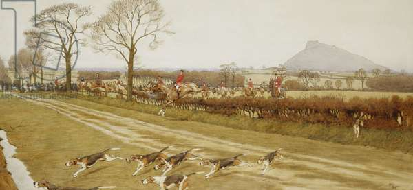 The Cheshire - Away from Tattenhall, 1912 (watercolour, pen and black ink heightened with white)