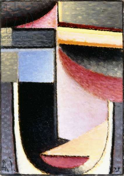 Abstract Head: The Chalice Passed Me, 1929 (oil on linen)
