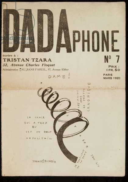 Front cover of 'Dadaphone' No. 7, 1920 (litho)