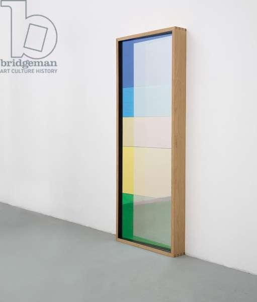 colour Motoric Entrance, 2004 (wood frame, mirror, colour effect filter)