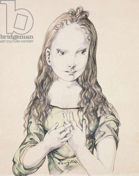 La Petite Fille, (watercolour on paper)