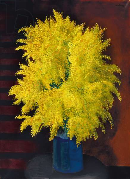 Bouquet of Mimosas, c.1930 (oil on canvas)