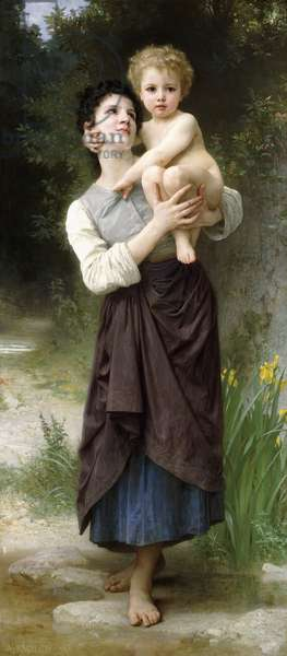 Brother and Sister, 1887 (oil on canvas)
