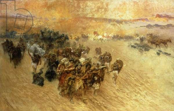 The Pharaoh's Captives (oil on canvas)