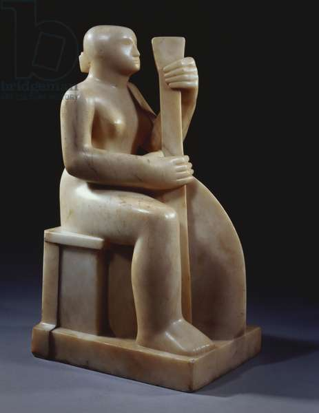 Musician, 1930 (carved white alabaster)