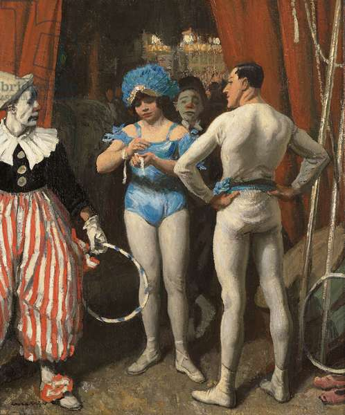 Circus People, c.1929 (oil on canvas)