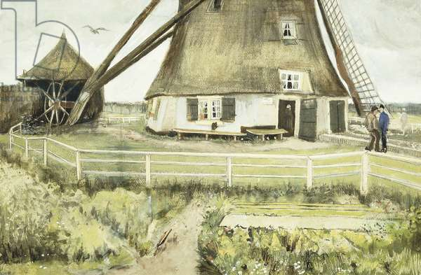 The Mill, 1881 (gouache & w/c over pencil on paper)