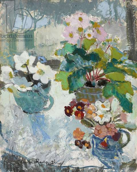 First Flowers, c. 1947 (oil on board)