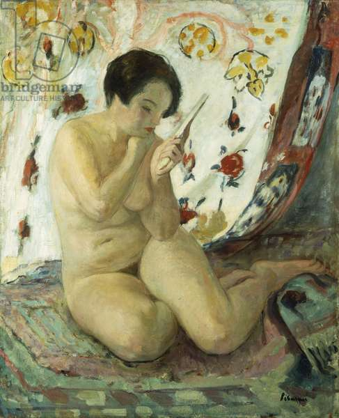 Nude Sat with a Mirror; Nu Assis au Miroir, 1925-1930 (oil on canvas)