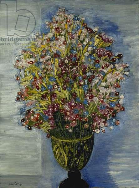 Flowers in a Green Vase; Fleurs dans un Vase Vert, 1938 (oil on canvas)