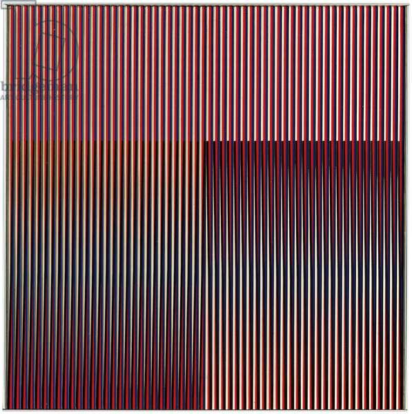 Physichromie 1150, Paris, 1979 (silkscreen on aluminum and stainless steel inserts)