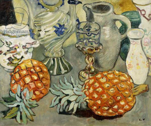 Still Life with Pineapples; Nature Morte a l'Ananas,  (oil on canvas)