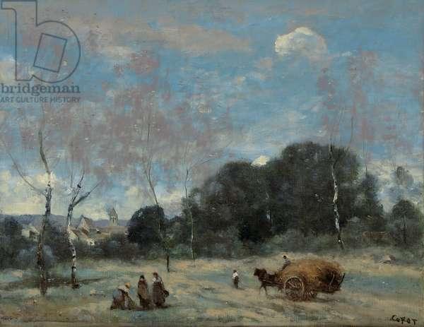 La Rentree des Foins a Marcoussis, 1870-74 (oil on canvas)