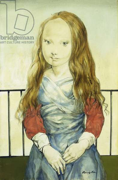 Portrait of a Young Girl; Portrait de Jeune Fille, 1959 (oil on canvas)