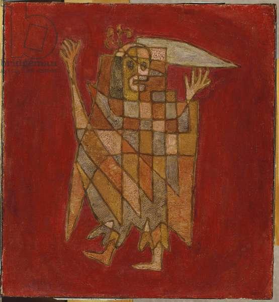 Allegorical Figure, 1927 (oil on board)