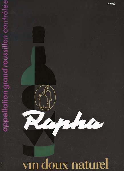 Poster advertising the aperitif brand St. Raphael, 1958 (colour lithograph)