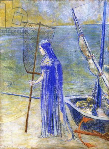 The Fisherwoman, 1900 (pastel on paper)