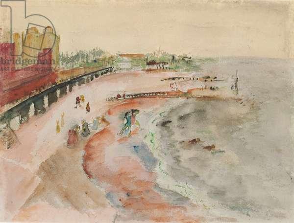 Brighton Beach (recto), c.mid-1930s (watercolour, gouache and graphite on paper)
