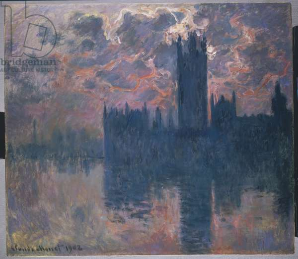 Houses of Parliament, Sunset, 1902 (oil on canvas)