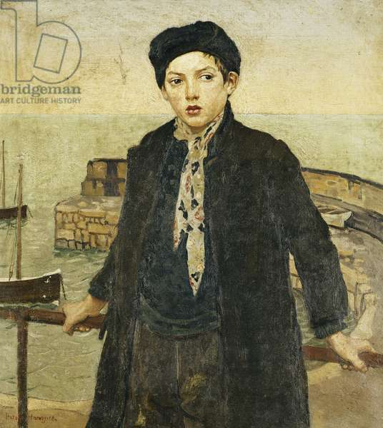 Boy by the Harbour, 1918 (oil on canvas)