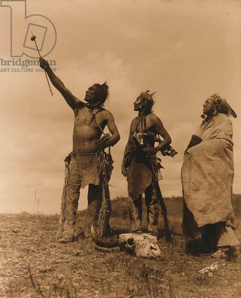 The Oath - Apsaroke, 1920 (orotone print)