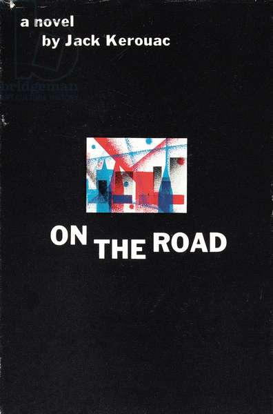 Front cover of 'On the Road' by Jack Kerouac (1922-1969), 1957 (colour lithograph)