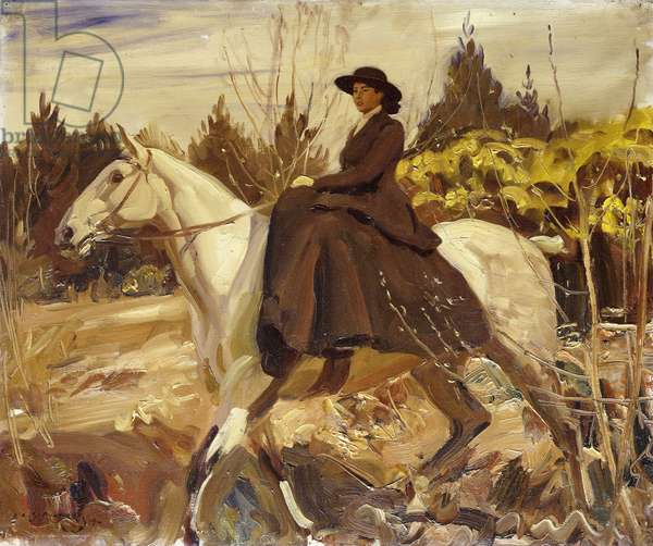 The Morning Ride, 1914 (oil on canvas)