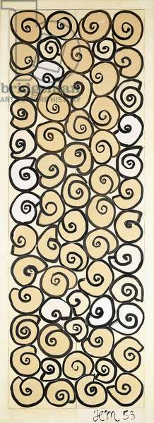 Grille, 1953 (brush, black ink, gouache, black crayon, pencil and collage on t)