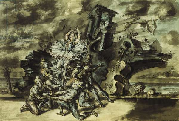 Italian Suite, 1940 (brush and black ink, watercolour and chinese white on paper)