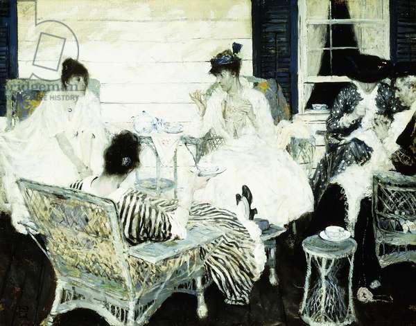 The Tea Party, 1916 (oil on canvas)