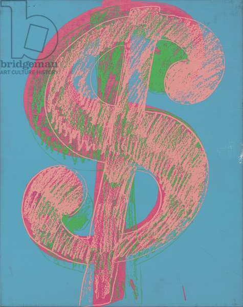 Dollar Sign, c.1981 (synthetic polymer and silkscreen inks on canvas)