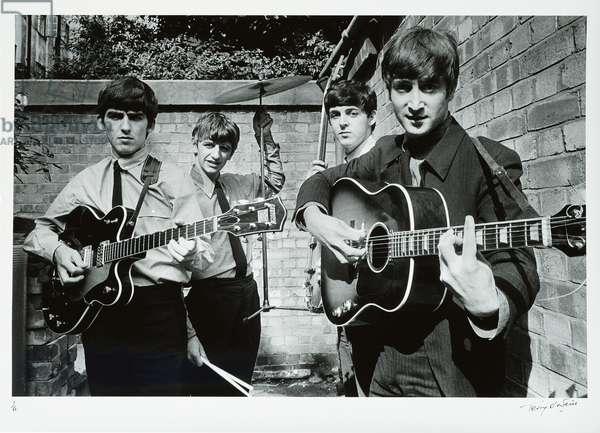 The Beatles' Backyard, London, 1963, printed 2012 (gelatin silver print)