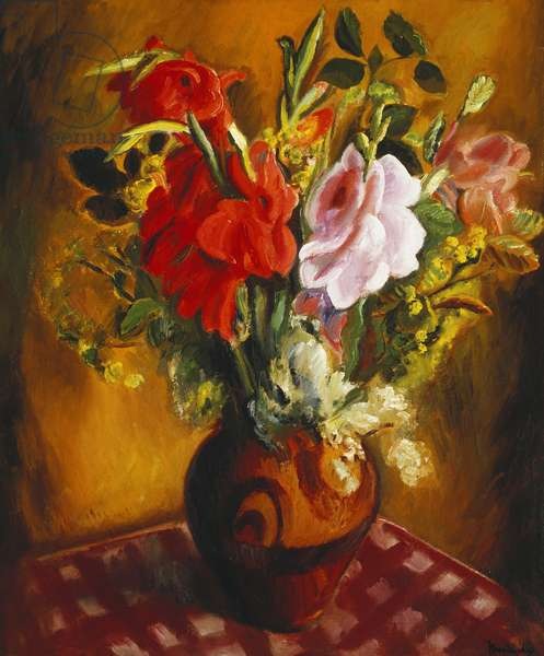Still Life with Summer Flowers, (oil on canvas)