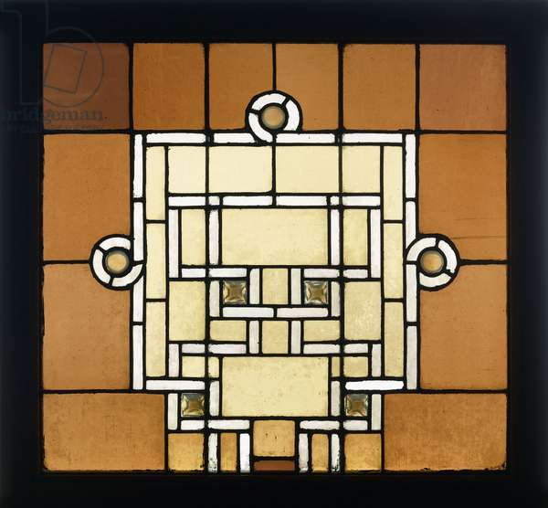 A leaded glass window for the Chicago Auditorium, c.1886-1889 (leaded glass)