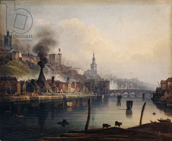 A View of Newcastle from the River Tyne, c.1810 (pencil and watercolour)