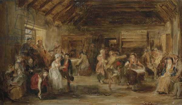 The Penny Wedding, A Sketch, 1830 (oil on panel)